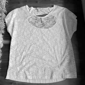 Forever 21 lace white shirt size small